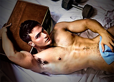 male fitness model naked