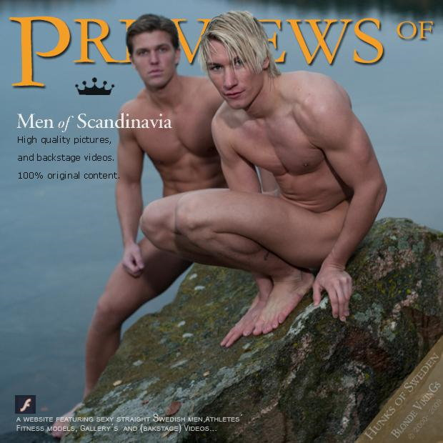 two muscle men from Sweden outdoors