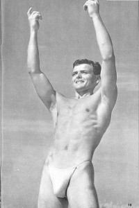 Male physique vintage photography