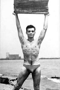 Male physique vintage magazine model