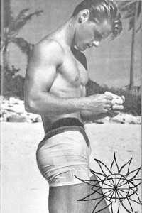 Male physique vintage magazine model