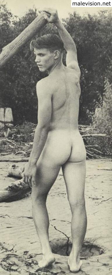 Beach Adonis handsome muscle vintage men