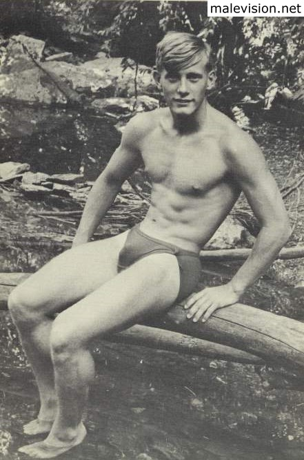 vintage male model from beach adonis