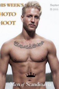 Handsome blond muscle man from Sweden