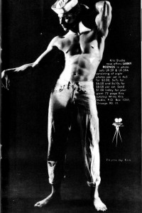 Male physique photo art from 1965