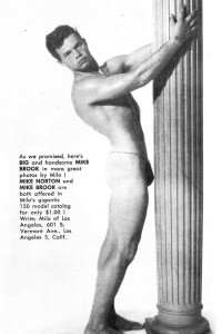 Vintage male physique of Big Boys magazine