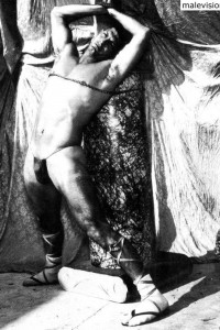 Vintage male physique of 1965