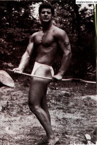 Male vintage physique photo art