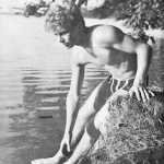 Swedish muscle guy outdoors