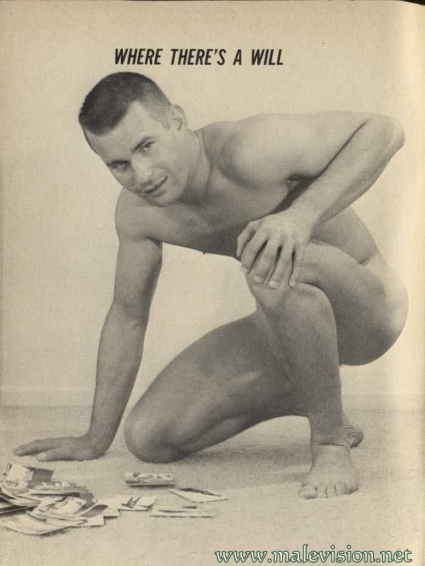 vintage muscle male model