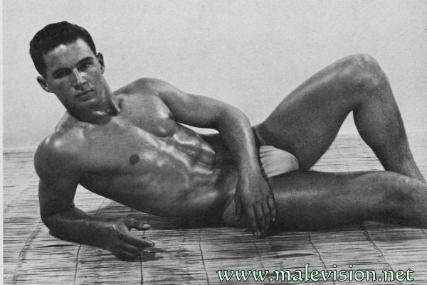 handsome muscle man vintage physique photography