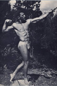 muscle man vintage physique PHOTO ART