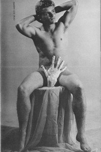 muscle guy vintage physique photo art