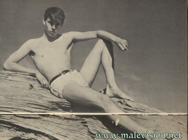 charming muscle boy vintage photo