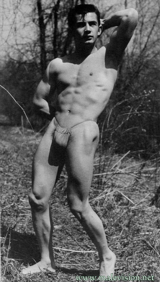 bodybuilder vintage physique photo art