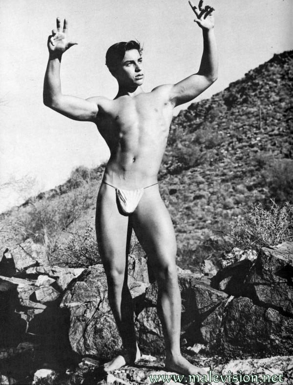 Beautiful muscle man physique photo art