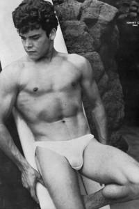 muscle man vintage physique photo art