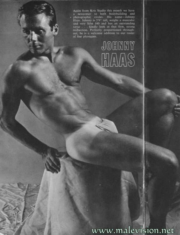 muscle man vintage photo from Beach Adonis
