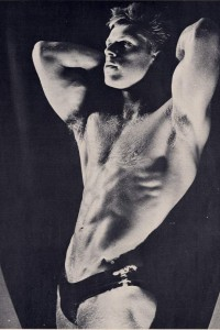 scandinavian bodybuilder vintage photo