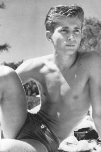 handsome muscle boy in vintage physique photo art