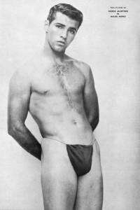 Muscle man vintage photo art