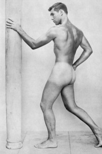 Handsome male vintage physique photography