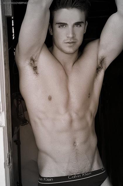 Hairy armpits man