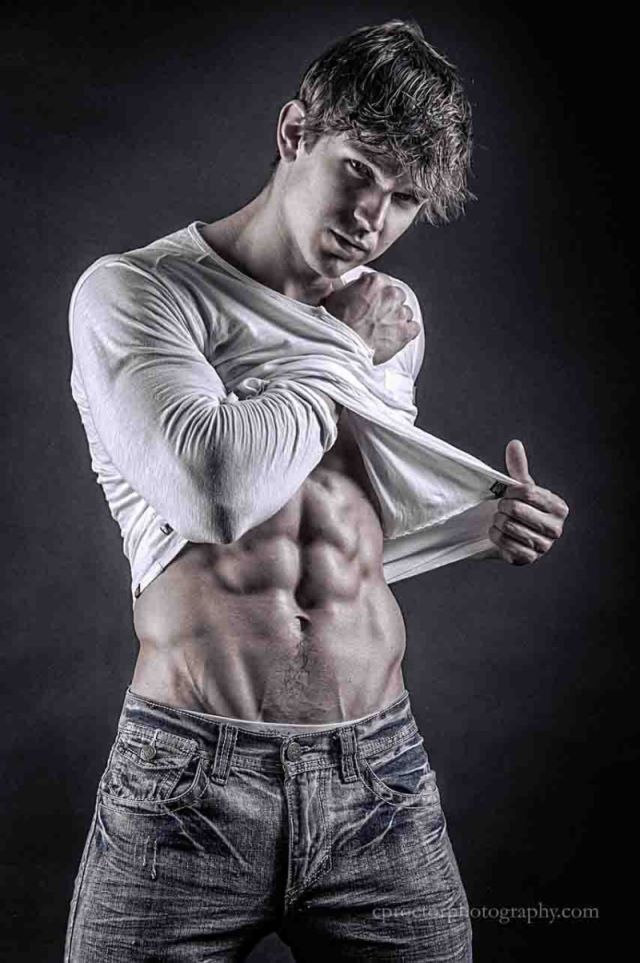 muscle man fashion photo