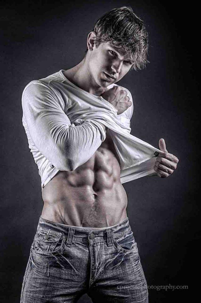muscle man fashion photo