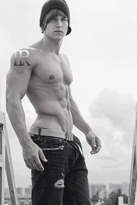 muscle man beautiful photo art