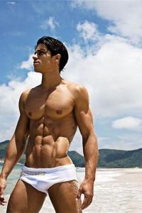 Carlos Freiere on the beach