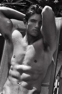 beautiful male fitness model