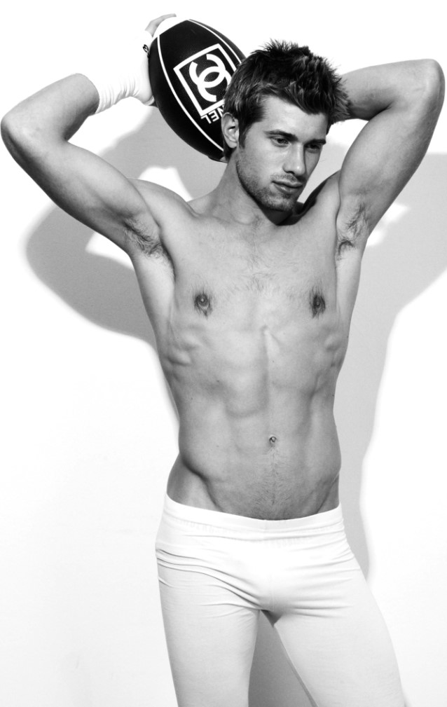 American fitness male model