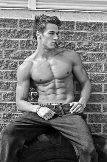 muscle male model from Canada