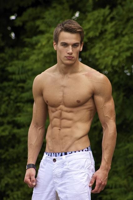 Canadian muscle male model
