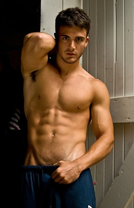 beautiful male fitness model
