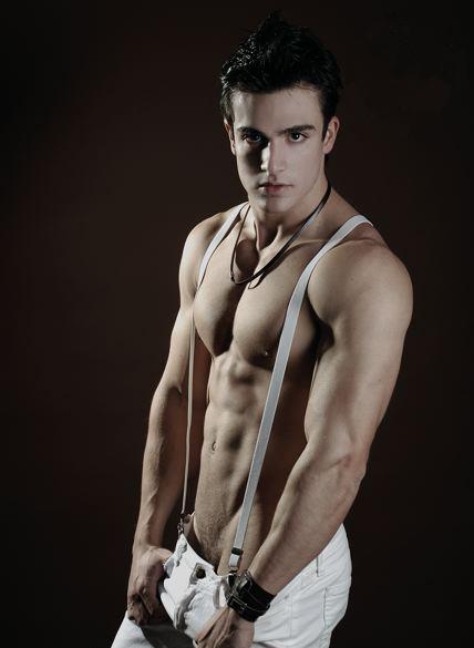 male fitness muscle model