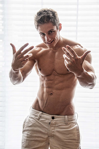 young muscle male model