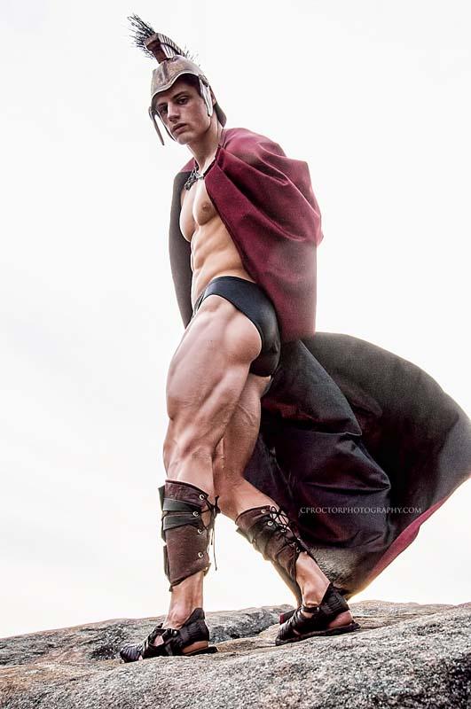 Sexy gladiator Ryan Scott Nelson