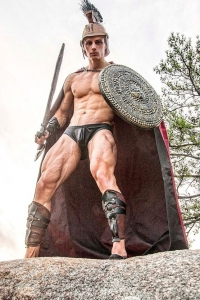 Ryan Nelson as a spartan warrior