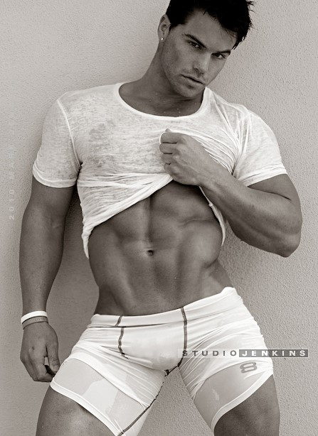 american male fitness model Jed Hill