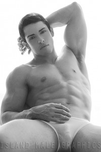 handsome muscle model