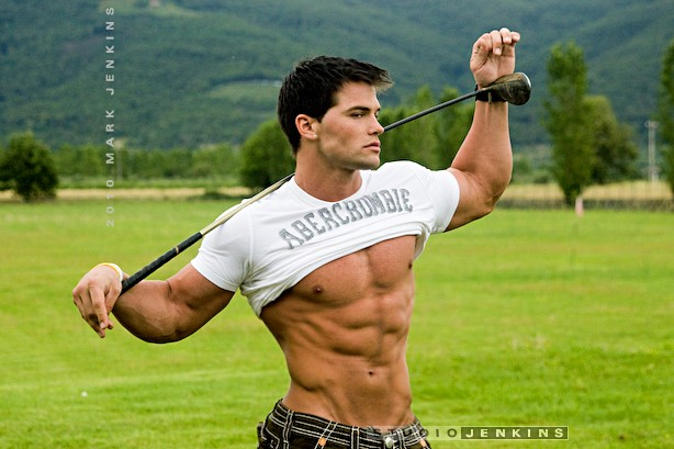 male fitness model Jed Hill