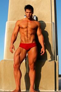 stunning bodybuilder Jed Hill