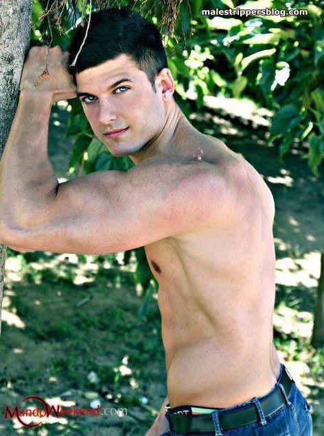 seducing male stripper Mark