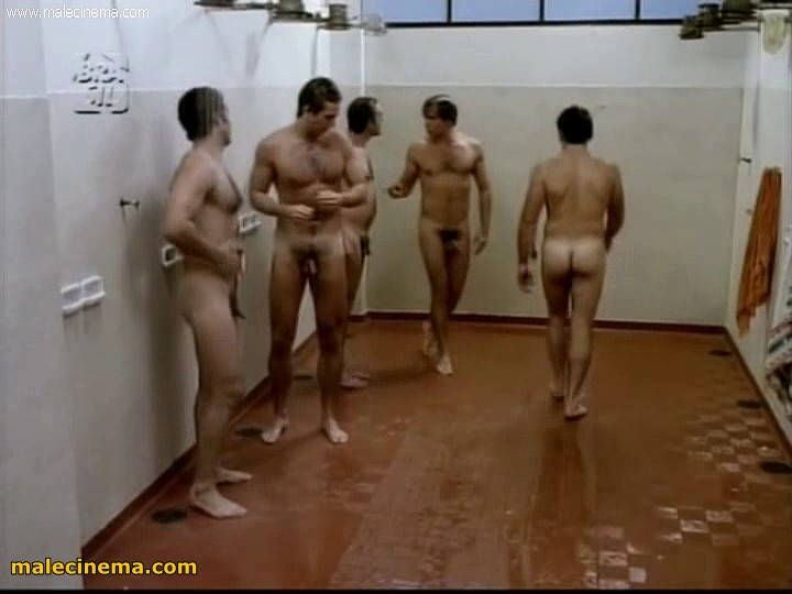 hunks showering