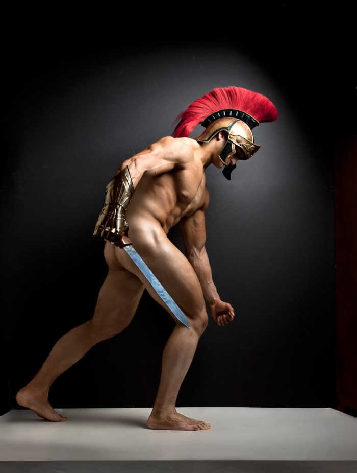 gladiator muscle man naked