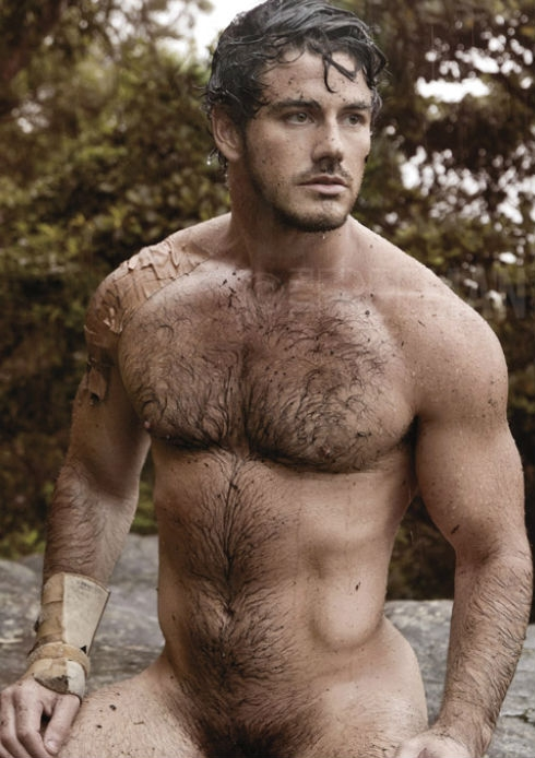 hairy hunk nudist
