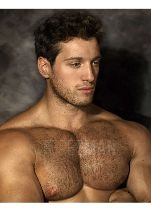 handsome hunky hairy man