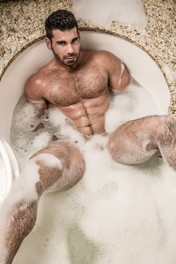 sexy hairy hunk wet